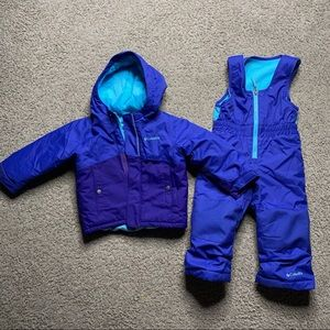 Columbia boys snow suit 2T
